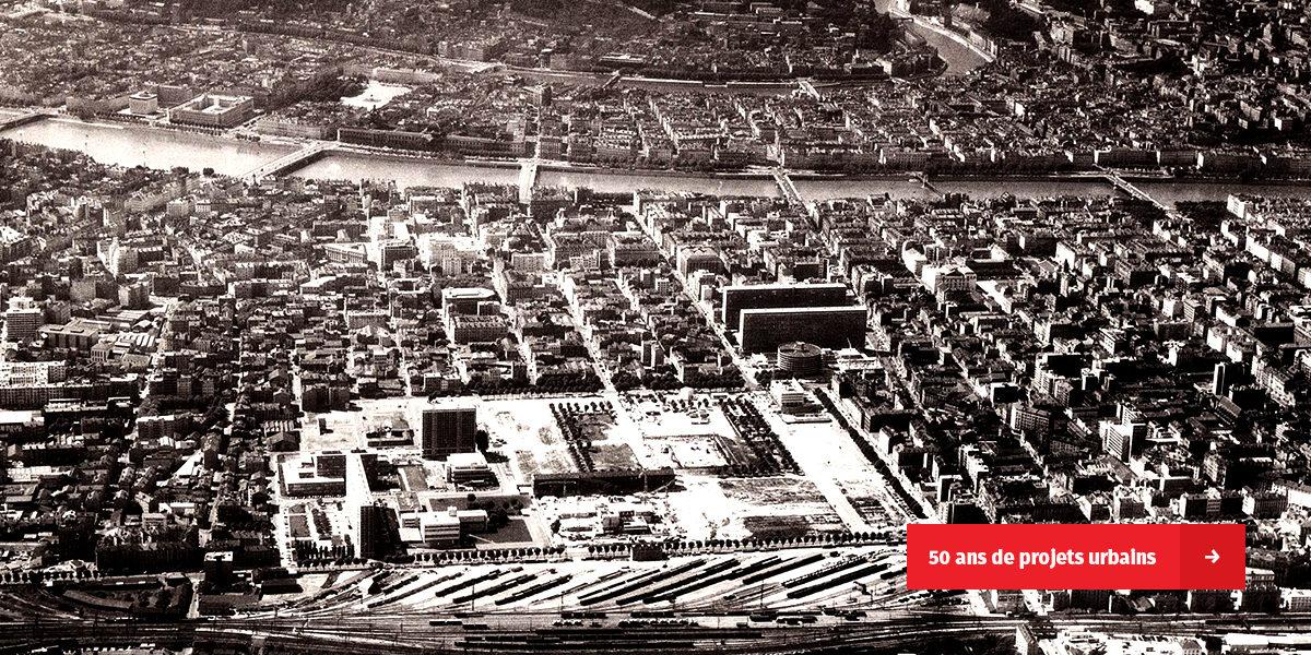 50 ans de projets urbains, les images d'archives du quartier Lyon Part-Dieu sur le site de l'INA