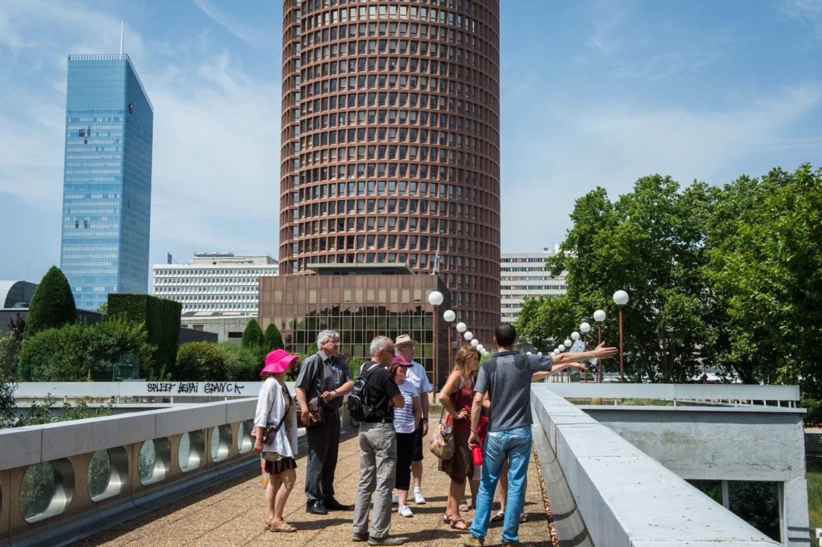 Les balades urbaines, juin 2015, outils de médiation et de concertation pour faire découvrir le projet Lyon Part-Dieu.
