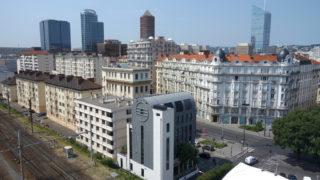 Vue aérienne de l'immeuble Edison dans le quartier des Brotteaux, opération du projet Lyon Part-Dieu