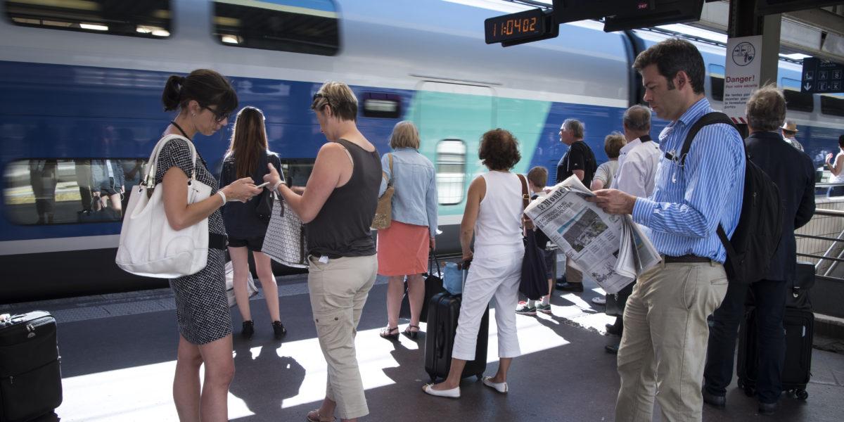 Quais de la Gare Lyon Part-Dieu, pôle d'échanges multimodal. © Crédits Grand Lyon Thierry Fournier.