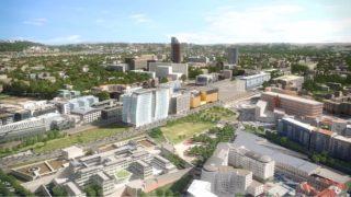 Panoramique de l'opération Sky 56, au Sud de Lyon Part-Dieu.