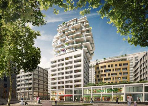 Le projet de logement et d'habitat Sky Avenue de Bouygues Immobilier, à Lyon Part-Dieu. © Crédits Asylum.