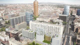 Vue aérienne du projet de logements Sky Avenue de Bouygues Immobilier.