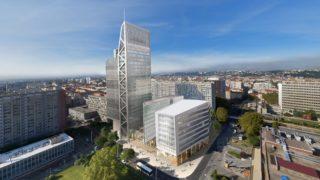Perspective de l'immeuble Silex² à Lyon Part-Dieu. © Crédits Asylum / MA Architectes.