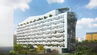 Perspective de l'immeuble Terralta, opération du projet Lyon Part-Dieu.