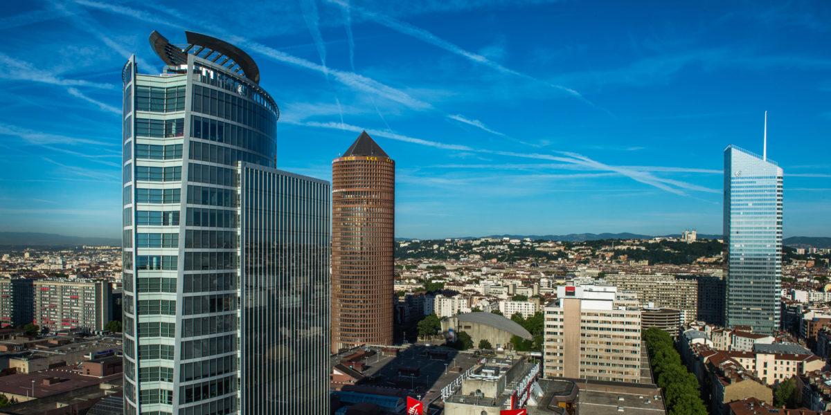 Les tours de Lyon Part-Dieu, quartier tertiaire économique. © Crédits Laurence Danière.