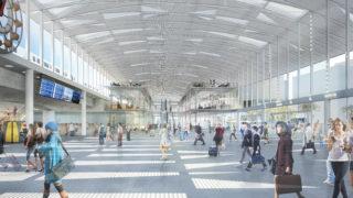 Vue intérieure de la gare de Lyon Part-Dieu, opération du projet Lyon Part-Dieu