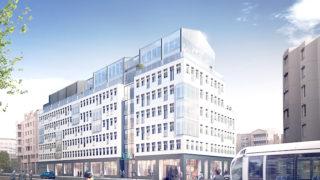Vue du bâtiment Le 107 rue Servient, opération du projet Lyon Part-Dieu.