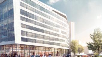 Perspective de l'immeuble Silex¹ à Lyon Part-Dieu. © Crédits Asylum / AIA Architectes.