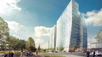 Perspective de l'immeuble Sky 56, au Sud de Lyon Part-Dieu. © Crédits AAFA / Chaix et Morel.