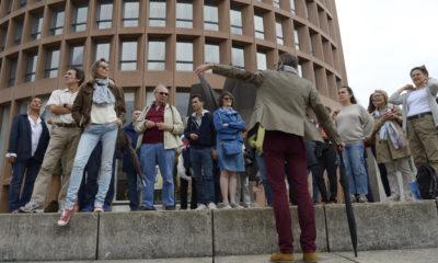 Promenade urbaine dans le quartier Lyon Part-Dieu, sur le thème de l'architecture, du béton et de la radicalité