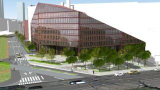 Vue de la future rue Flandin depuis le sud