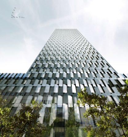 La façade du Two Lyon, Lyon Part-Dieu. © DPA Architecture