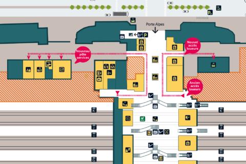 Plan Gare Villette OrienteEst Pôle Services+Loueurs