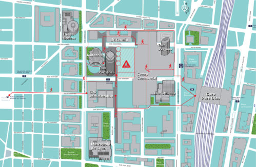 Plan Piétons Fermeture Esplanade