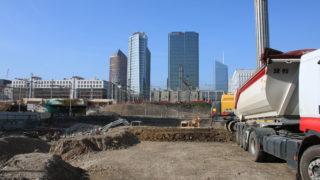 Le chantier d'Emergence-Lafayette, programme de logements, bureaux, commerces et services, porté par OGIC @SPL Lyon Part-DIeu