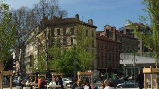 Lyon Part Dieu parking halles parvis pique-nique