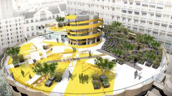 Le toit-terrasse du parc de stationnement des Halles