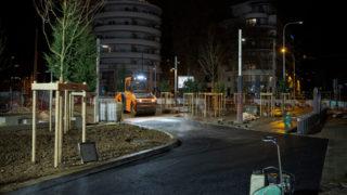 Reportage Sur La Pose De L'enrobé Rue Maurice Flandrin Dans Le 3ème Arrondissement De Lyon Pour La SPL