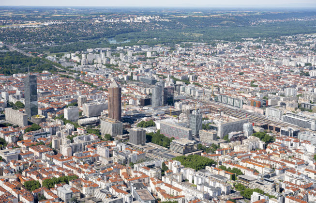 Vue aérienne du quartier @thierry fournier